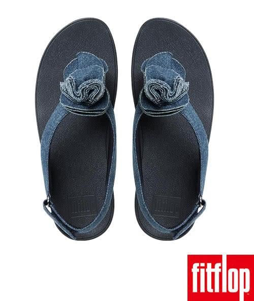 【FitFlop TM】FLORRIE TM PATENT BACK-STRAP(丹寧)