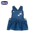 chicco To Be BG-彈性針織牛仔背帶短裙