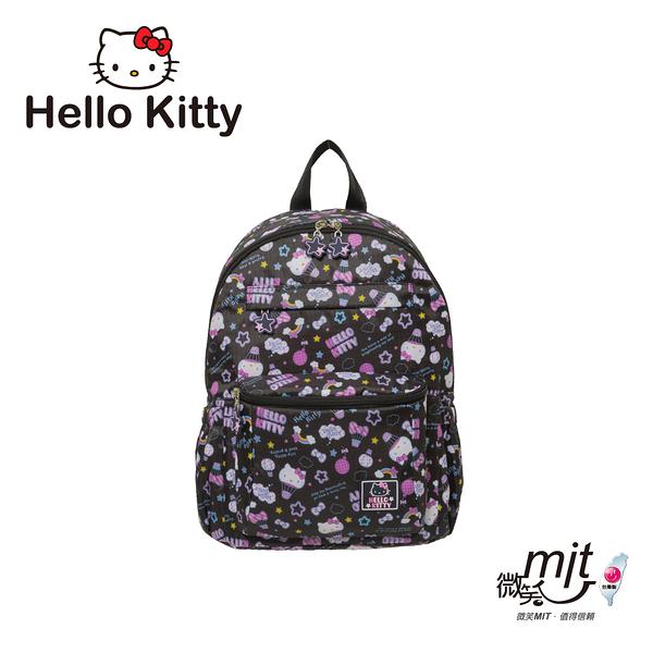 Hello Kitty - 悠遊星空-後背包-中-黑 KT01Q04BK