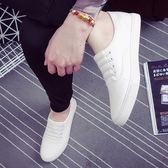 春季男鞋休閒鞋不繫帶一腳蹬懶人鞋帆布鞋男小白鞋老北京布鞋