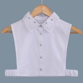 假領子假領片韓版假衣領T恤  寶石款 帽T洋裝襯衫針織大學T外套內搭白色[E1233]  預購.朵曼堤洋行