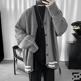 針織外套男士春秋季寬鬆大碼開衫休閒上衣【左岸男裝】