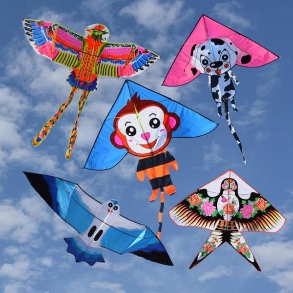 卡通兒童三角風箏 易飛 兔 眼鏡蛇 老鷹 蝴蝶 鳳凰 初學者