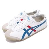 Asics 復古慢跑鞋 Mexico 66 白 紅 藍 低筒 休閒鞋 復古 基本款 女鞋 男鞋 亞瑟士【ACS】DL4080146