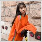 毛衣 慵懶拼色條紋長袖毛衣RZ0098-創翊韓都