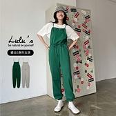 LULUS【A04210131】M腰抽繩棉質吊帶褲2色