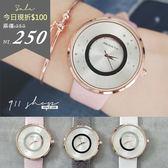 Planet.REBIRTH品牌。閃耀銀河點鑽亮粉漆皮錶帶手錶【tc217】*911 SHOP*
