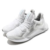 adidas 慢跑鞋 Edge XT 白 灰 男鞋 反光 襪套 透氣 跑步 路跑 運動鞋【ACS】 EG9707