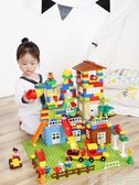 拼圖積木 積木城市6拼裝8女孩7男孩子3兒童玩具4益智力1-2周歲10 綠光森林
