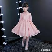 加厚小女孩冬裝旗袍兒童公主裙禮服紅 女童洋裝秋季洋氣裙子  LN6869【甜心小妮童裝】