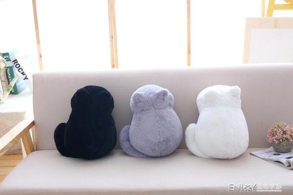七夕情人節貓抱枕可愛趴趴背影貓咪靠墊辦公室午睡枕頭送生日禮物 檸檬衣舎