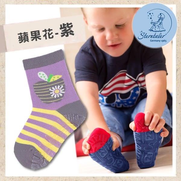 防滑輕薄學步襪-蘋果花紫(9-11cm) STERNTALER C-8021610-526