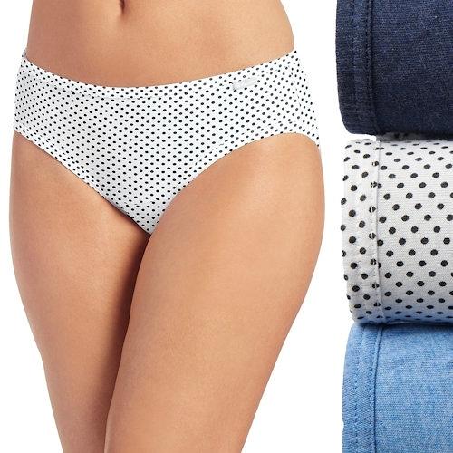 Jockey 女純棉透氣比基尼內褲3件裝(藍色系)