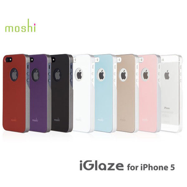 【A Shop】 Moshi iGlaze for iPhone SE 5S/5 超薄時尚保護背殼  透明殼