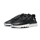 ADIDAS  NITE JOGGER 黑白 網布 反光logo 休閒鞋 (布魯克林) EE6254