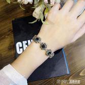 冷淡風韓國復古水晶手手鍊彩色寶石閨蜜手飾手串不褪色手環 溫暖享家