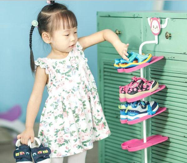卡通 動物 日式 立體 兒童 鞋架 櫃門 掛式 鞋子