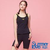 【Summer Love 夏之戀】加大碼運動基本款兩件式泳衣(S18722)
