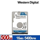 WD 藍標 500GB 2.5吋(7mm) SATA硬碟 WD5000LPCX