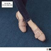 《SD0165》台灣製造~釦環人造皮革兩穿休閒鞋 OrangeBear