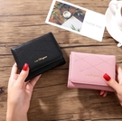 新款女士錢包 石頭紋女包 亮皮歐美潮包女士 女士短款三折包包 迷你小錢包女 女士零錢包 女款包