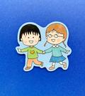 【震撼精品百貨】CHIBI MARUKO CHAN_櫻桃小丸子~小丸子造型貼紙-小丸子與小玉#57647