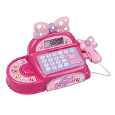 家家酒系列玩具 音效粉紅蝴蝶結收銀機 35562