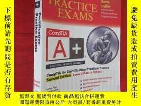 二手書博民逛書店CompTIA罕見A+ Certification Practice Exams, 【16開】 【詳見圖】,附光盤
