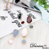 耳環 現貨 韓國時尚氣質甜美百搭糖心幾何不對稱垂墜耳針 S93285  批發價 Danica 韓系飾品