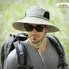 遮陽帽男夏季戶外防曬大檐遮臉防紫外線男士透氣太陽釣魚漁夫帽子 快速出貨