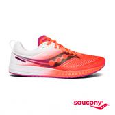 SAUCONY FASTWITCH 9 專業競速女鞋-夕陽橘x白