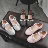 水晶鞋 女童皮鞋2019秋季新款韓版時尚公主鞋小女孩亮片軟底兒童水晶單鞋 小天後