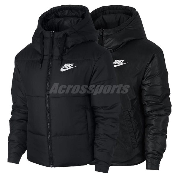 Nike 連帽外套 Sportwear Fill Jacket Rev 黑 白 女款 雙面反穿 夾克 【PUMP306】 939361-010