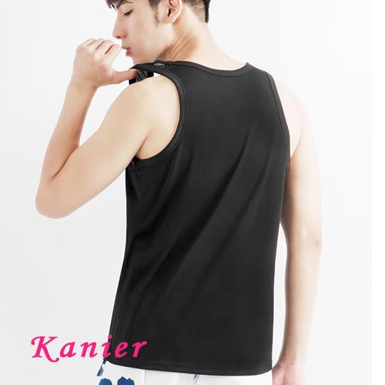 【Kanier卡妮兒】男士極度輕盈涼感背心 (k023黑藍灰)(M-XL)