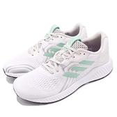 【六折特賣】adidas 慢跑鞋 AeroBounce 2 W 白 綠 二代 女鞋 運動鞋 透氣網布【ACS】 BD7213