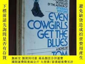 二手書博民逛書店Even罕見Cowgirls get the blues 三面刷