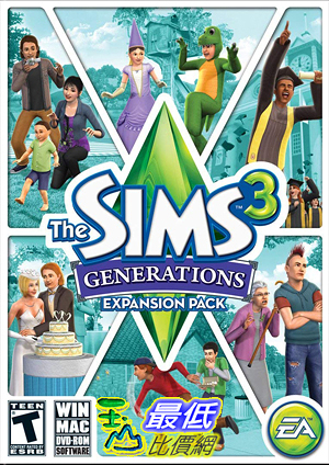 [7美國直購] 2018 amazon 亞馬遜暢銷軟體 The Sims 3: Generations Expansion Pack PC Mac