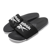 Reebok 涼拖鞋 Comfort Slide 2.0 黑 白 男鞋 女鞋 基本款 復古LOGO 舒適好穿 拖鞋【PUMP306】 FU7205