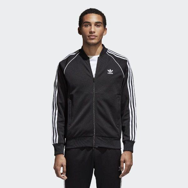 adidas 運動外套 Originals SST Track Jacket 黑白 三條線 男款 【PUMP306】 CW1256