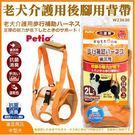 *WANG*日本Petio《老犬介護後腳用背帶 2L》中型犬用W23630