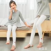 2018新款打底褲外穿女童踩腳連褲襪秋季白色舞蹈襪兒童練功襪子 QG9688『優童屋』