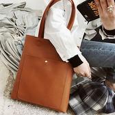 包包女復古港風大包韓版新款托特包學生單肩手提包【快速出貨八折優惠】