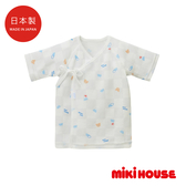 MIKI HOUSE BABY 日本製 新生兒紗布衣(富士山)