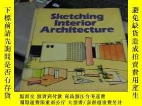 二手書博民逛書店sketching罕見interior architecture