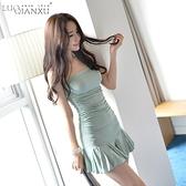抹胸洋裝 2021新款性感蹦迪女裝一字肩抹胸顯瘦緊身魚尾緊身辣妹禮服連身裙 韓國時尚週