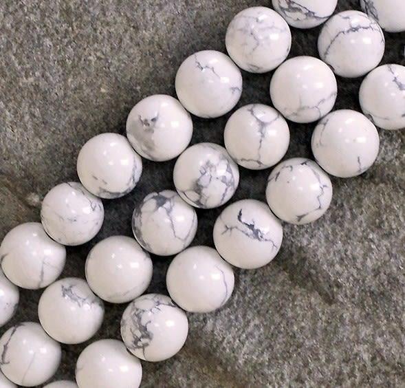 [協貿國際]天然白松石散珠14MM29顆圓珠批發價
