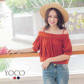 東京著衣【YOCO】韓妞最愛多色細肩帶收腰上衣-S.M.L(171189)