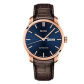 【僾瑪精品】MIDO 美度 BELLUNA II 經典機械腕錶 -咖啡x藍/M0246303604100