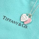 Tiffany&Co.正品全新 結婚 禮物Return to Tiffany 迷你雙色雙心純銀項鍊 粉紅色