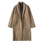 毛呢大衣 冬季新款韓版呢大衣男中長款寬鬆毛呢加厚情侶風衣呢子保暖外套 小天後